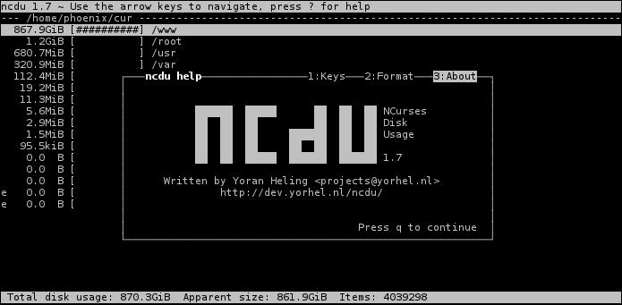 Image result for ncdu